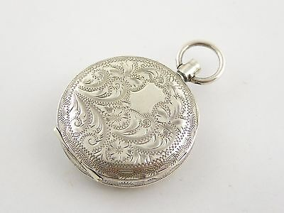 Antique 1915 Sterling Silver Pocket Watch London Silver Import Marks  LAYBY AVAI