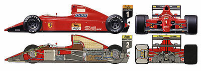 1:12 Tamiya Ferrari 641/2 F190 model 12027 12030 decal sticker prost mansell f1