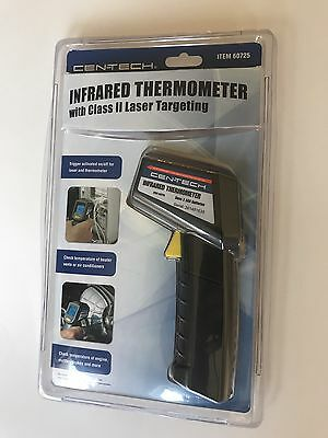 NIP Infrared Thermometer with Class II Laser Targeting Cen-Tech 60725 NEW