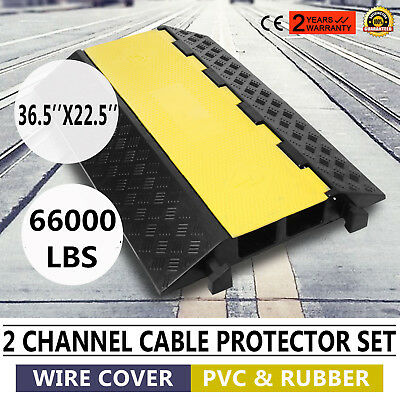 2 Channel Cable100*57cm Cover Ramp Protector Black Ramp Heavy Duty Protector