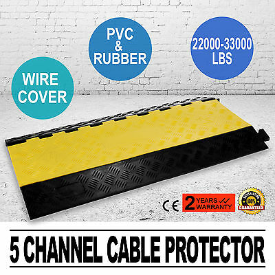 "5 Channel Cablewire Cover Ramp Protector Thermoplastic Wire Cover 1.38""x 1.26"""
