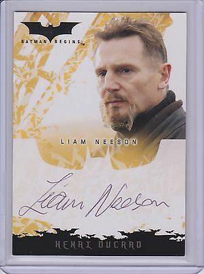 LIAM NEESON Autographed Topps 2005 BATMAN BEGINS Signed Card as Henry Ducard