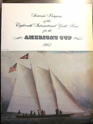 THE AMERICA'S CUP 1962 Official Souvenir Program GRETEL Vs. WEATHERBY (Good)