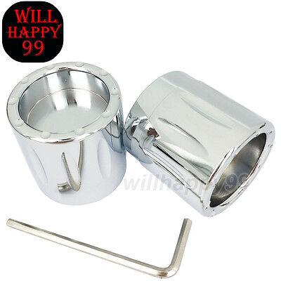 Chrome Front CNC Deep Edge Contrast Cut Axle Nut Cover Harley Touring Sportster