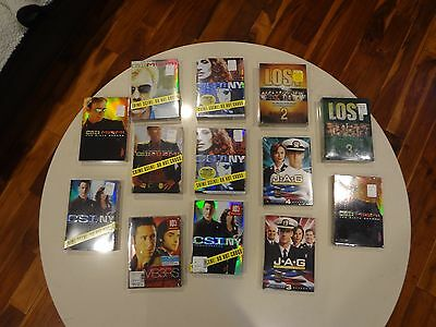 Wholesale DVD Lot Murder Mystery TV - CSI NY CSI MIAMI JAG NUMBERS LOST