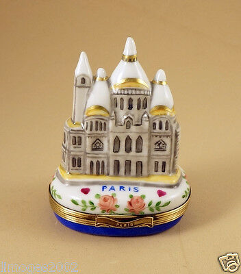 New French Limoges Easter Trinket Box Sacre Couer Cathedral Paris Monument