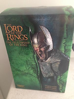 LOTR Sideshow Weta Numenorean Infantryman 1/4 Scale Bust Mint Condition
