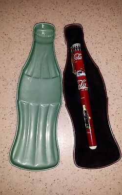 1996 Coca Cola Pentech Ink Pen in Special Collector Coke Bottle Shaped Tin