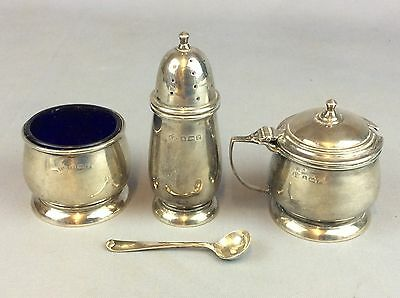 Elkington And Co Solid Silver Dated 1914 Mustard And Salt Set 135 Grams