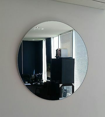 Round Frameless polished edge wall mirror Diameter 60cm Bathroom or feature NEW