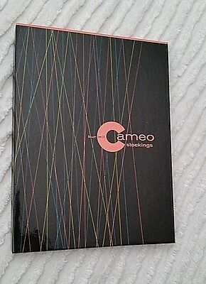 NIB Vintage Cameo Leg Lace Charcoal Stockings 2 Pair Size 11M