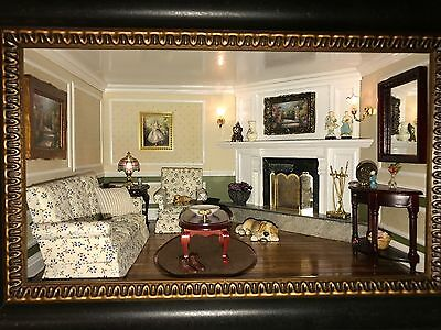 HANDCRAFTED LIVING ROOM SHADOW BOX.Amazing Detail