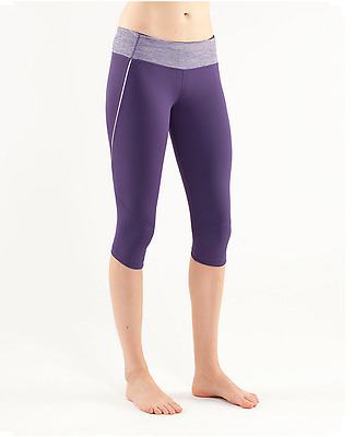LULULEMON Run Excel Crop Running Pants Concord Grape Size 8 EUC