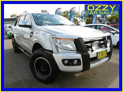 2012 Ford Ranger PX XLT 3.2 (4x4) Silver Automatic 6sp A Dual Cab Utility