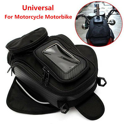 Magnetic Motorcycle Motorbike Oil Fuel Tank Bag Black Luggage Pouch Waterproof