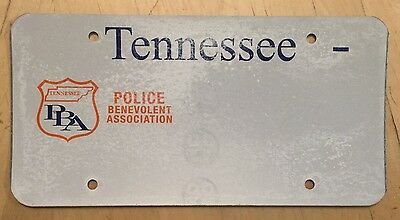 "Tennessee Police Benevolent Association Pba Blank  License Plate  "" Blank "" Tn"
