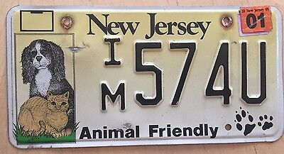 """Nj Animal Friendly License Plate """" Im 574U """" Dogs And Cats Pets Dog Cat Canine"""