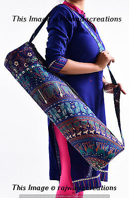 Indian Mandala Portable Yoga Mat Carry Bag With Shoulder Strap Carrier Yoga Bags