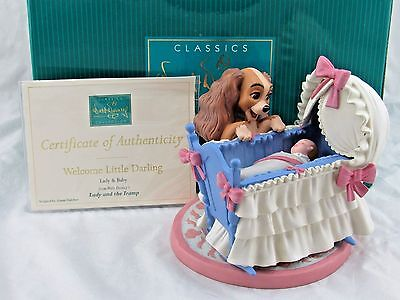 "WDCC ""Welcome Little Darling"" Lady & Baby from Lady and the Tramp in Box, COA"