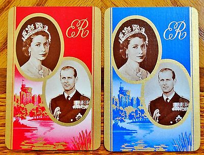 Royal Coronation - Pair Mint Vintage Linen Swap Playing Cards