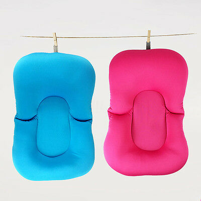 Baby Bath Tub Pillow Pad Air Cushion Floating Soft Seat Infant Newborn