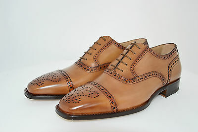 MAN-7eu-8usa-OXFORD CAPTOE-FRANCESINA-CALF COGNAC-LEATHER SOLE-SUOLA CUOIO