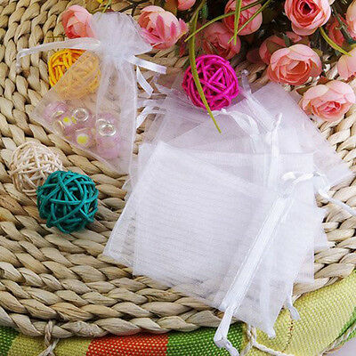 100pcs Premium ORGANZA Wedding Favour XMAS GIFT BAGS Jewellery Candy Pouches