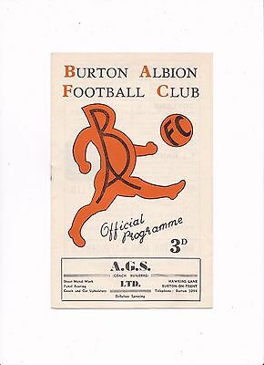 1955/56 BURTON ALBION v HALIFAX TOWN (FA Cup 2nd Round REPLAY)