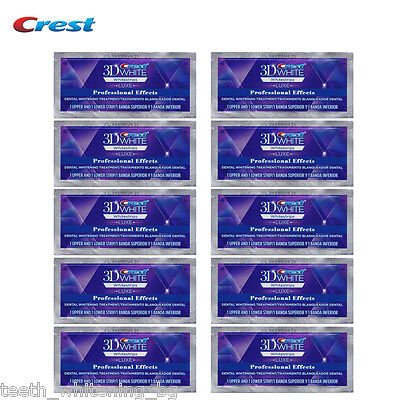 20 Crest3D Professional Effects 10 Day Kit Teeth Whitening Whitestrips