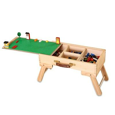LEGO compatible storage Play Table folding custom made wooden chalkboard kids ch