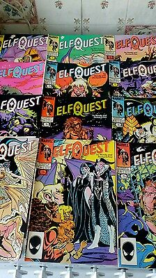 set of 12 rare Marvel Elfquest comics from the 80's