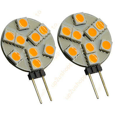 2pcs G4 Base 9SMD LED Camper Marine Warm white Light Bulb Lamp DC12Volt Hot New