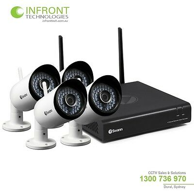 Swann SONVK-485KH4 Wireless 2MP 1080P CCTV Recording Kit with 4 Cameras