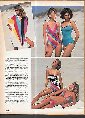 Pretty Shapely Women in Swimsuits Vintage 80's Catalog Swimwear Photo Clippings