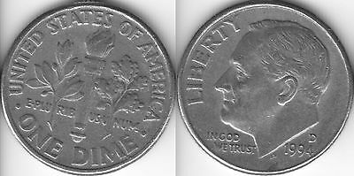 USA 10 Ten cent coin Dime 1994