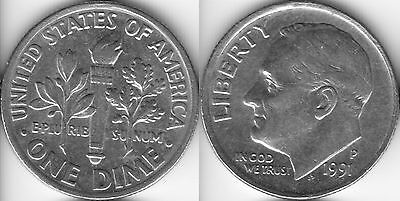 USA 10 Ten cent coin Dime 1991