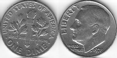 USA 10 Ten cent coin Dime 1978