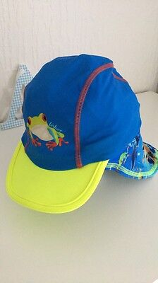 Boys Ted Baker UV Protection Sun Cap Hat Swimming Age 1-2 Years 12-24 Months
