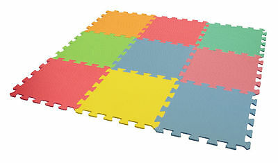 9 Piece Play Mat Foam Floor Tiles Set Summer Fun Indoor & Outdoor Garden Child