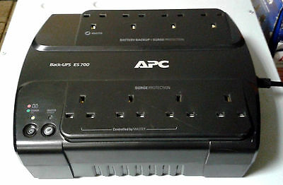 APC Back UPS ES 700  BATTERY REPLACED  Run Time Tested 700va Schneider