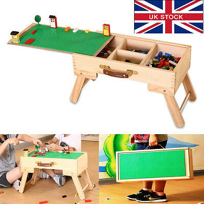 LEGO Compatible Storage Play Table Folding Custom Made Wooden Chalkboard Kids