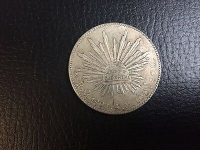 Coin 8 Reales 1891, Mexico, Republic (Second), Silver