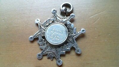 antique solid sterling silver pocket watch fob.maltese?