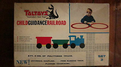 Vintage Toltoys Child Guidance Railroad Set 2 Australian Made