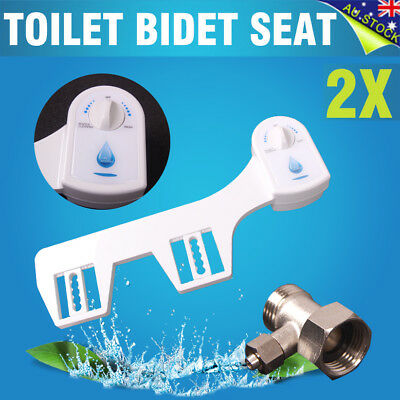 New 2x Toilet Bidet Seat Hygeian Spray Water Wash Clean Unisex Bathroom White AU