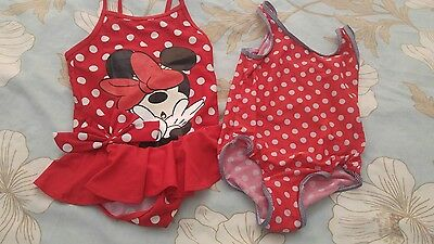 Girls swimming costumes size 5-6 years