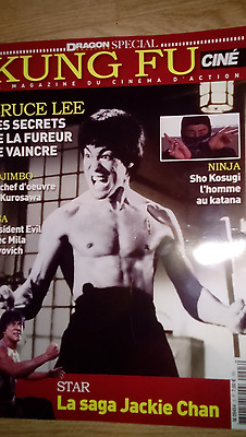 magazine. kung fu cine .couverture bruce lee jackie chan