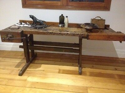 Vintage Antique Workbench