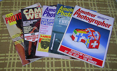 5 x 1980's Photography Magazines: Including Amateur Photography/SLR Photography/