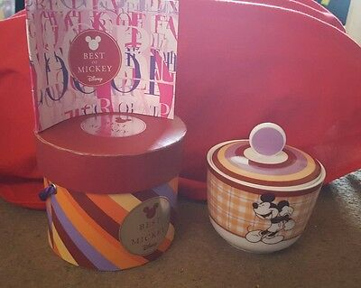 Mickey Mouse Collectible Sugar Bowl Official Disney Comes in Gift Box